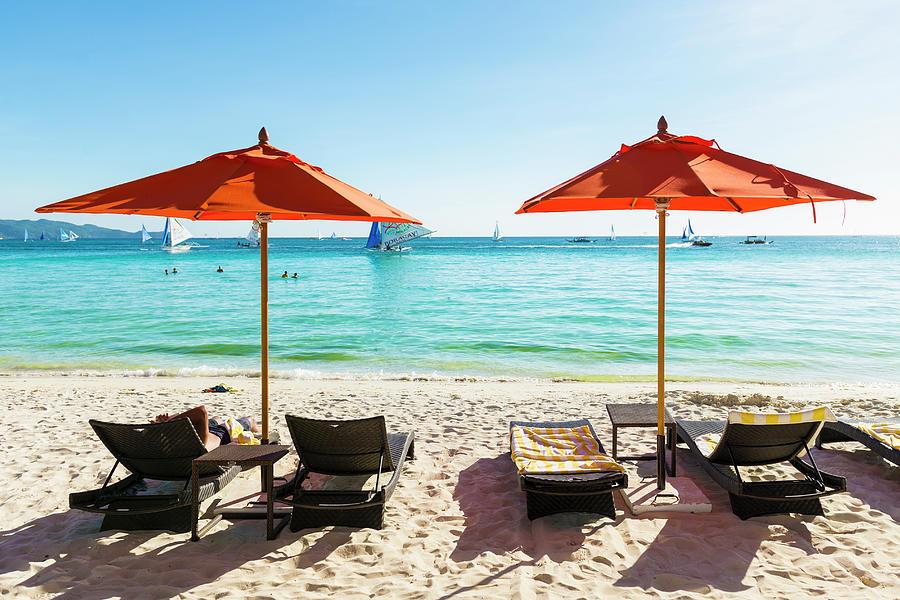 White Beach, Boracay, Philippines Photograph by John Harper