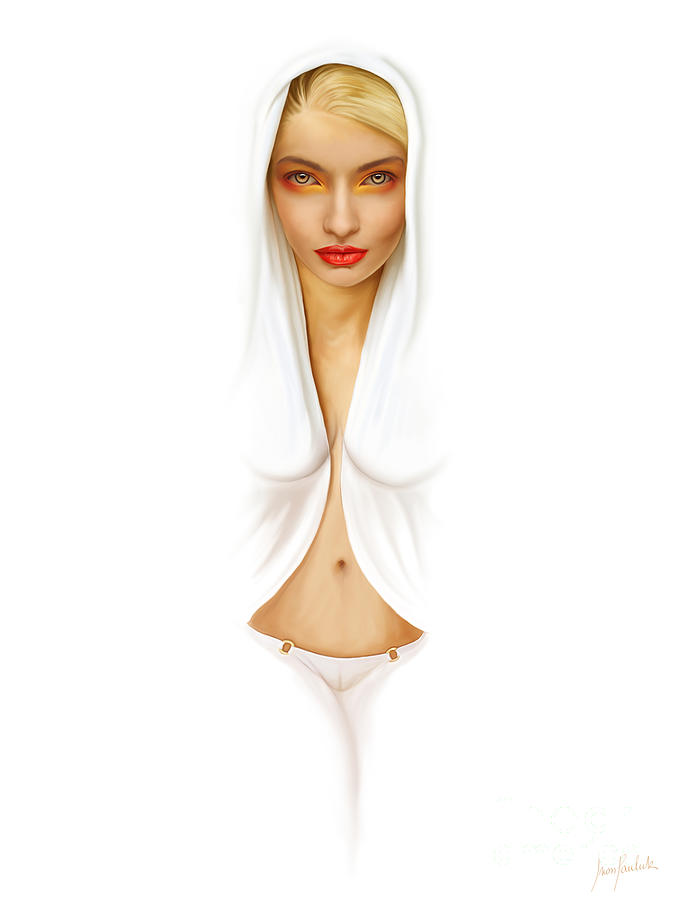 Digital Painting Painting - White Beauty by Ivan  Pawluk