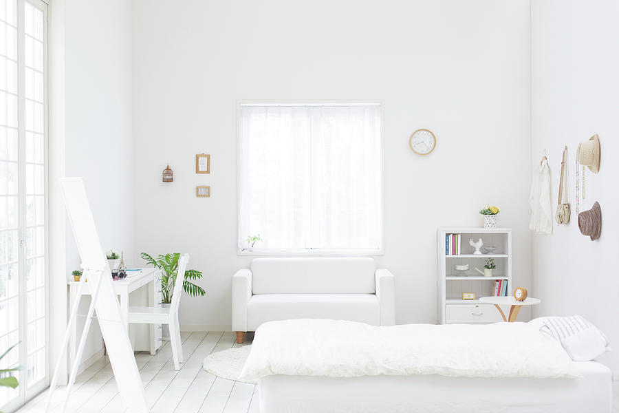 White Bedroom Photograph by Bloom Image