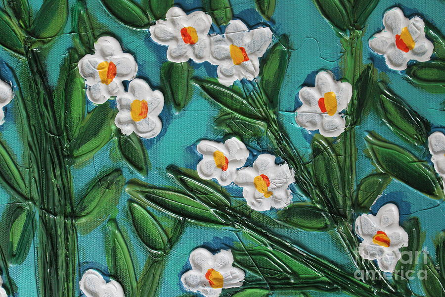 White Painting - White Blooms 2 by Cynthia Snyder