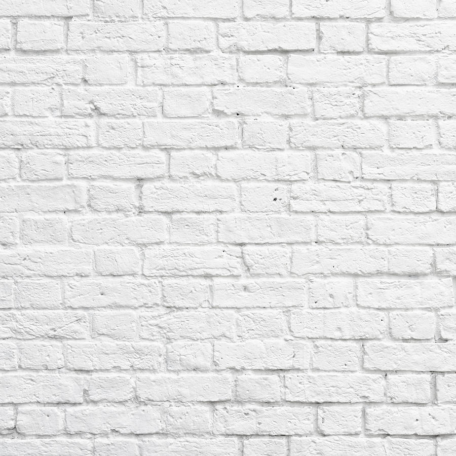 Brick Photograph - White Brick Wall by Dutourdumonde Photography