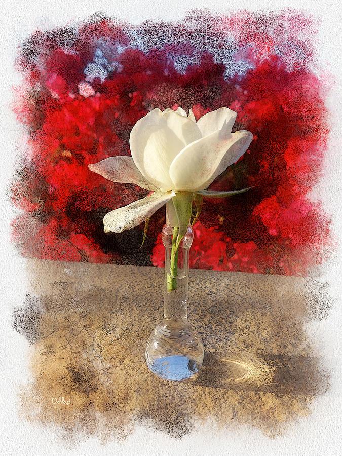 Rick Lloyd Digital Art - White Bud And Vase by Rick Lloyd
