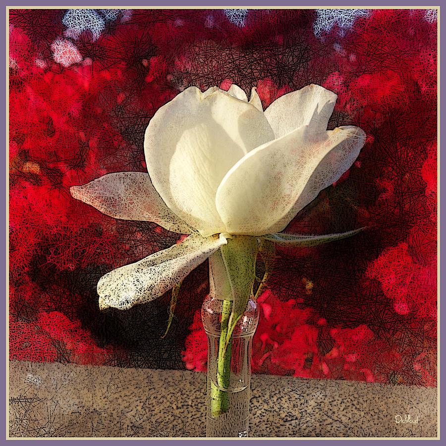 Rick Lloyd Digital Art - White Bud by Rick Lloyd