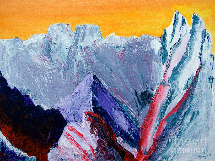 White Painting - White Canyon by Kandyce Waltensperger