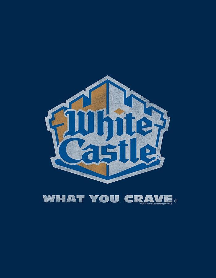 White Castle Digital Art - White Castle - Distressed Logo by Brand A