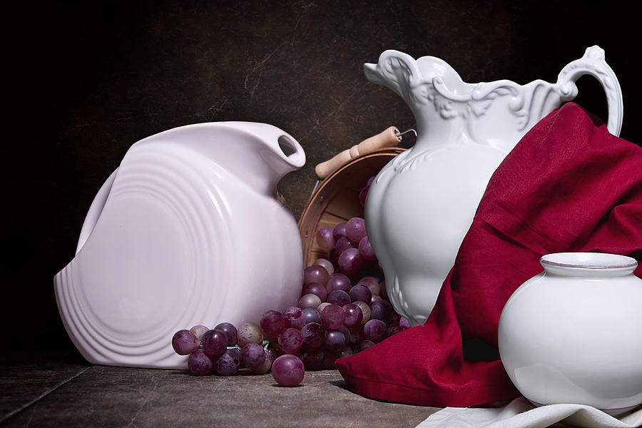 White Photograph - White Ceramic Still Life by Tom Mc Nemar