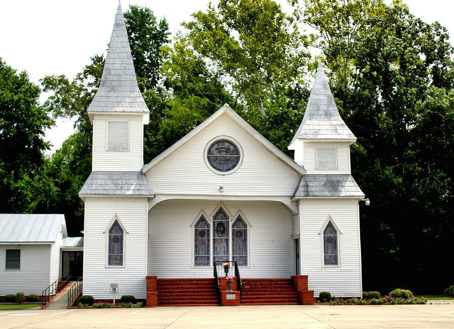 Church Photograph - White Church Building by Carolyn Ricks