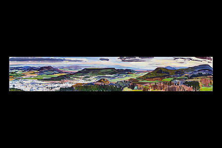 Landscape Painting - White City 3 by Dena Lyons