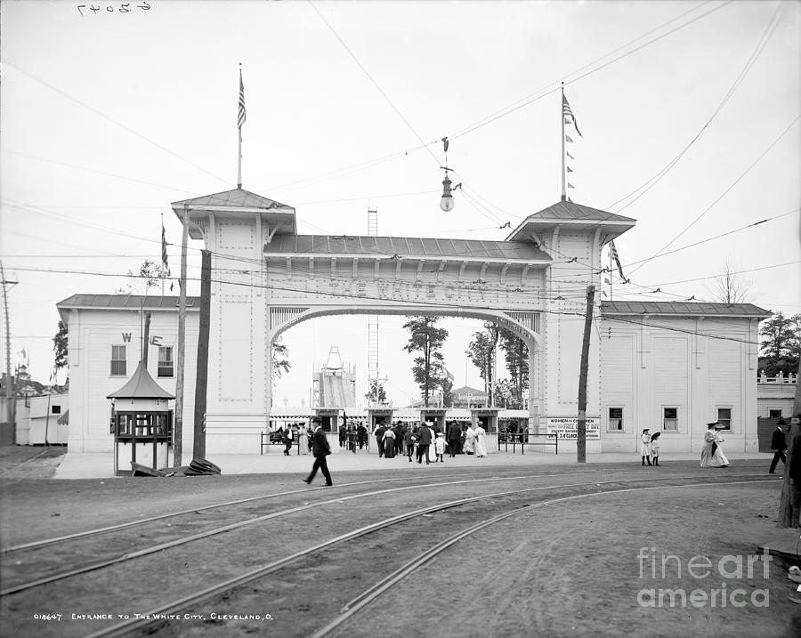 White City Amusement Park Entrance Cleveland Photograph By