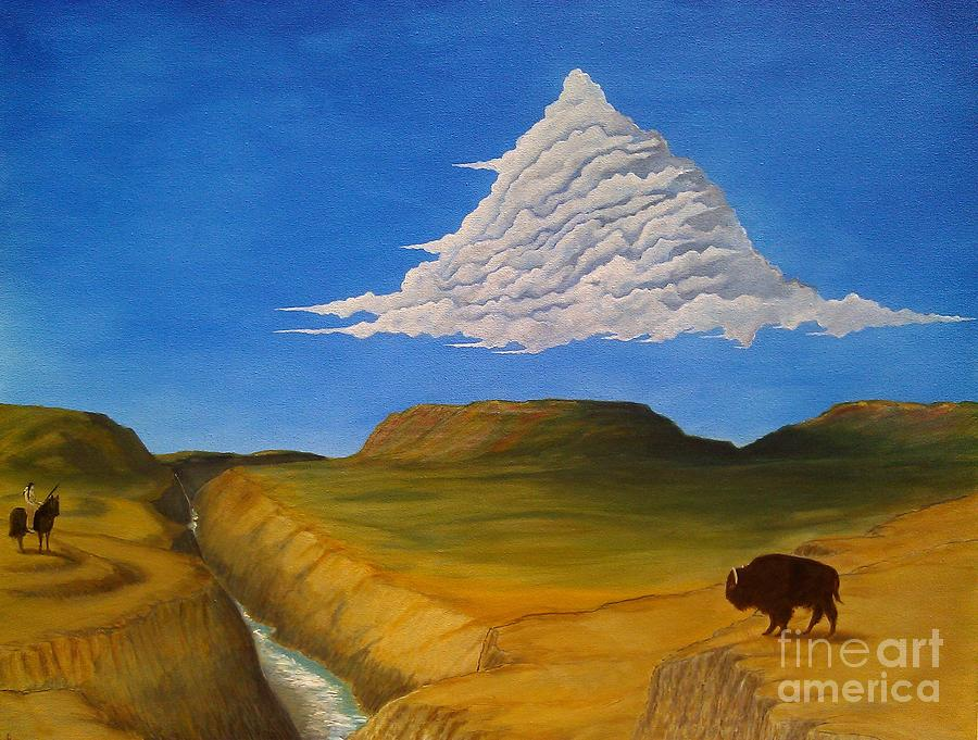 Landscape Painting - White Cloud by John Lyes