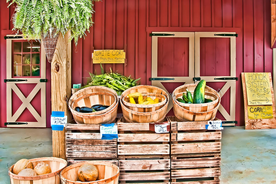 Baskets Photograph - Summer Bounty by Maria Coulson