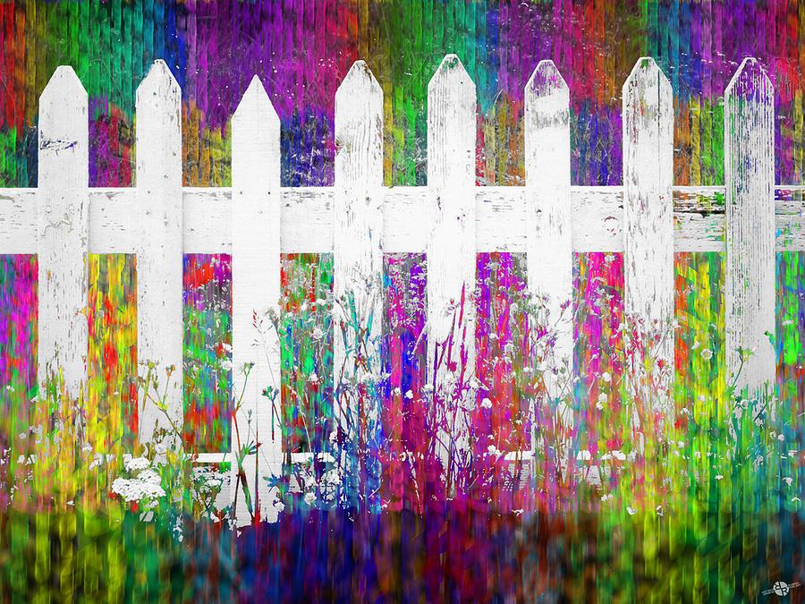 white fence 1 painting by tony rubino