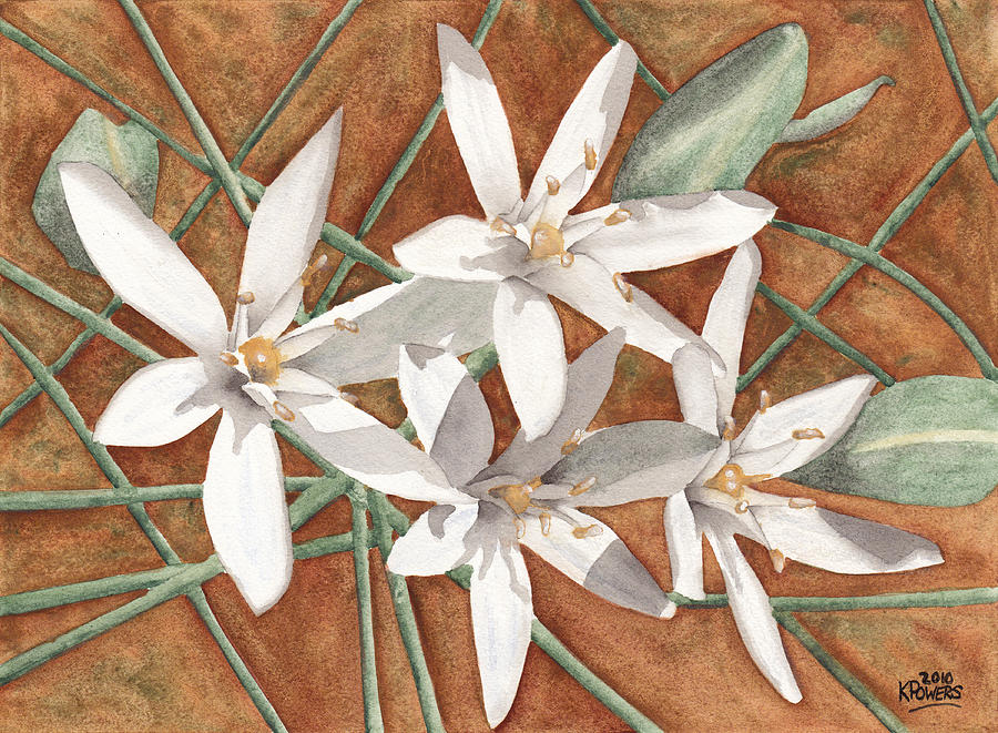 White Painting - White Flowers by Ken Powers