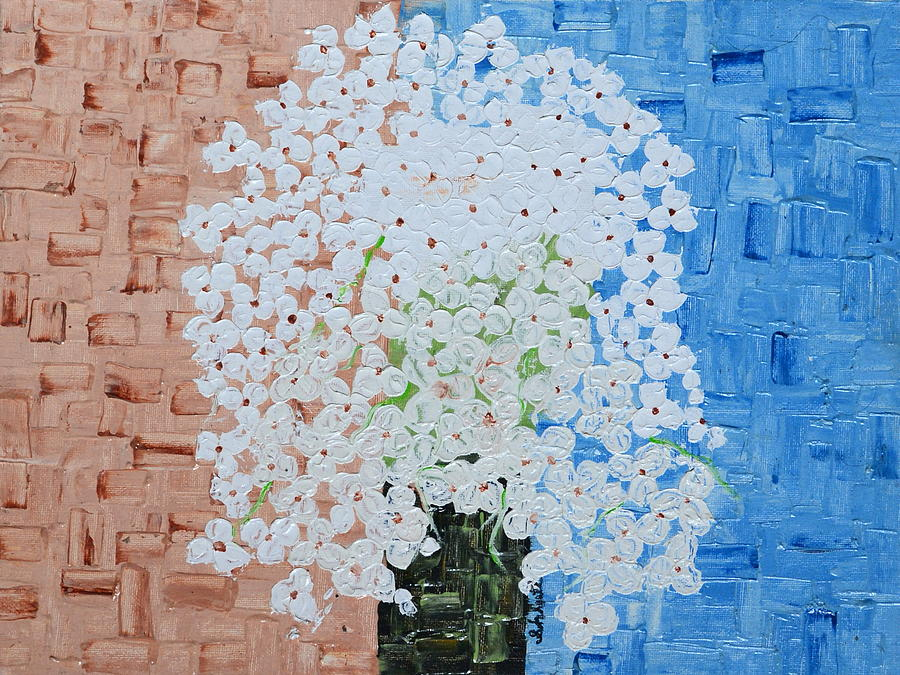 Flowers Painting - White Flowers by Shruti Prasad