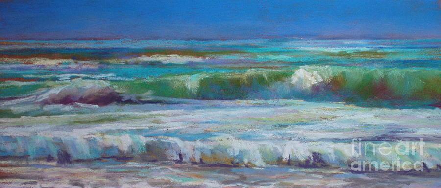 Ocean Painting - White Foam by Virginia Dauth