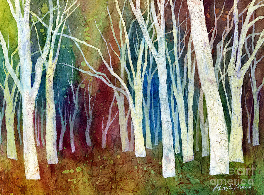 White Forest Painting - White Forest I by Hailey E Herrera