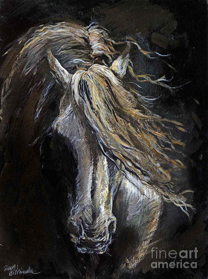 White Ghost Painting By Angel Tarantella