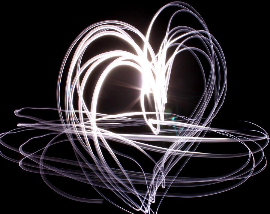 Mosaic Photograph - White Heart by Aya Murrells