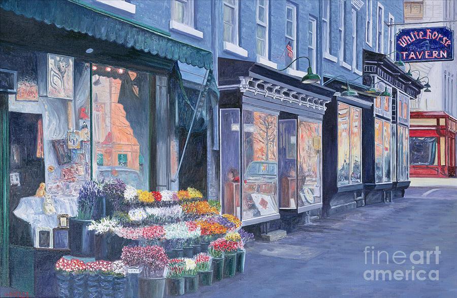 Lower Manhattan Painting - White Horse Tavern Hudson Street West Village by Anthony Butera