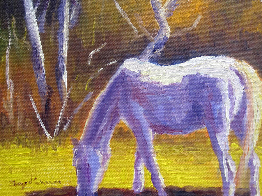 White Horse Painting - White Horse by Terry  Chacon