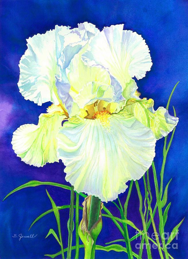 Flower Painting - White Iris by Barbara Jewell