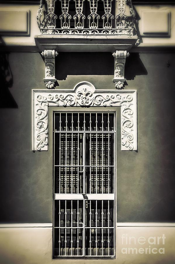Door Photograph - White Iron by Perry Webster