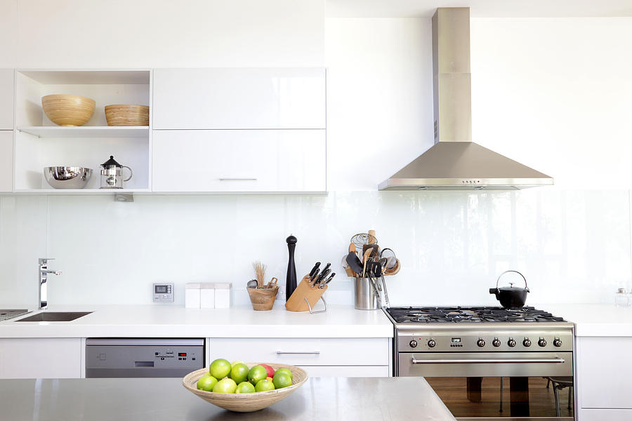 White kitchen Photograph by Bloodstone