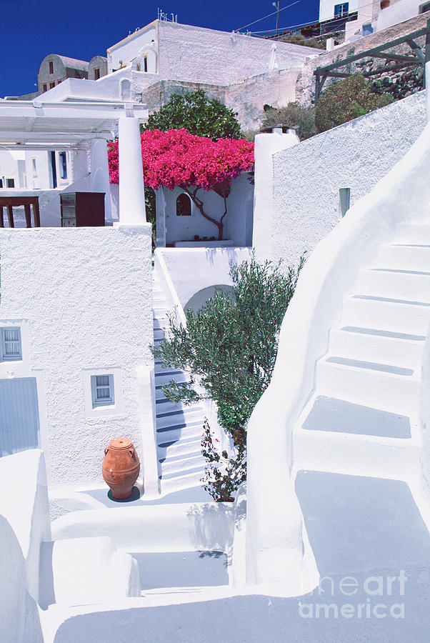 Santorini Photograph - White Labyrinth by Aiolos Greek Collections