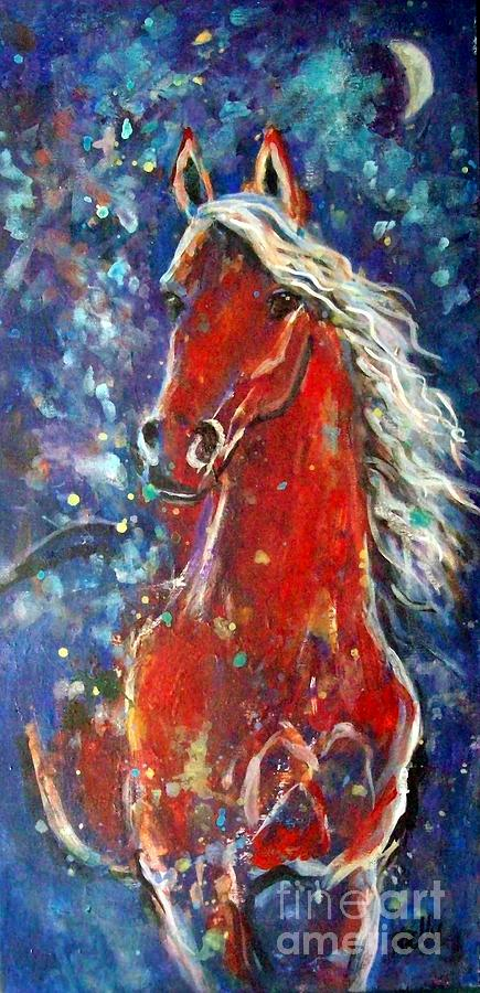 Animal Painting Painting - White Mane by Relly Peckett