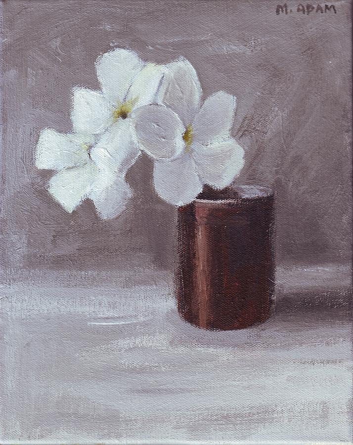 Still Life Painting - White by Mary Adam