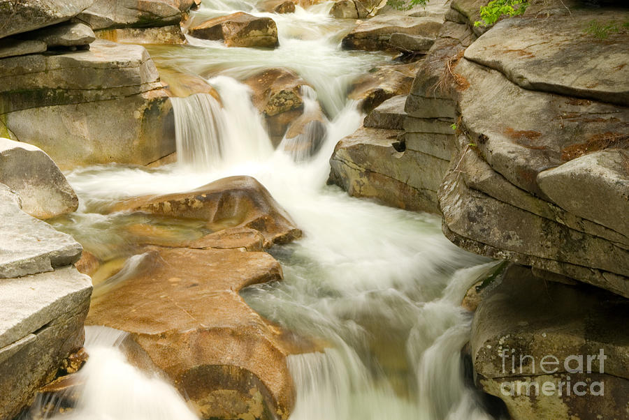 Mount Washington Photograph - White Mountain Stream by Alana Ranney