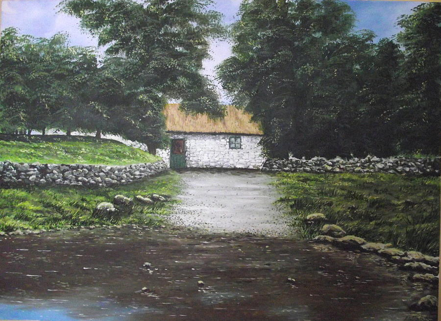 White O Morn Cottage Painting by Robert Gary Chestnutt