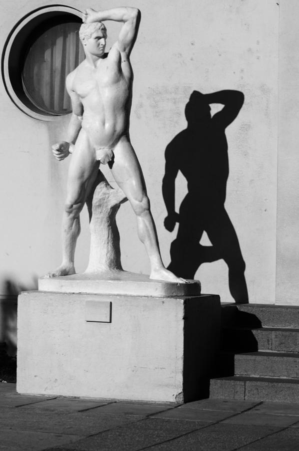 Stature Photograph - White On Black by Thomas D McManus