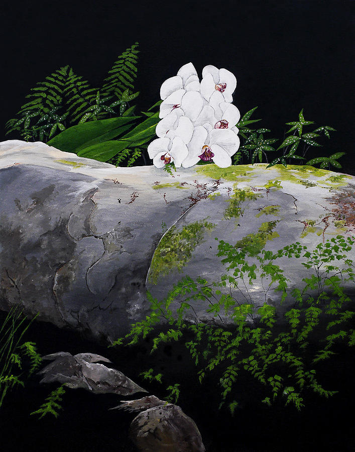 White Orchids Painting