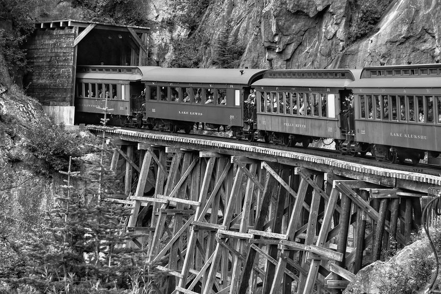 Aged Photograph - White Pass Railway by Dawn Currie