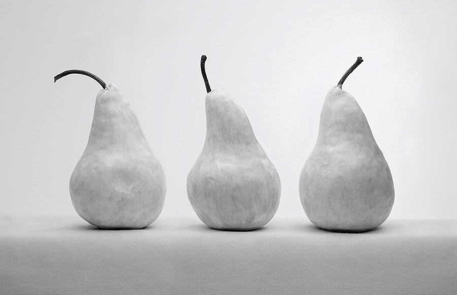 Artist Photograph - White Pears by Krasimir Tolev