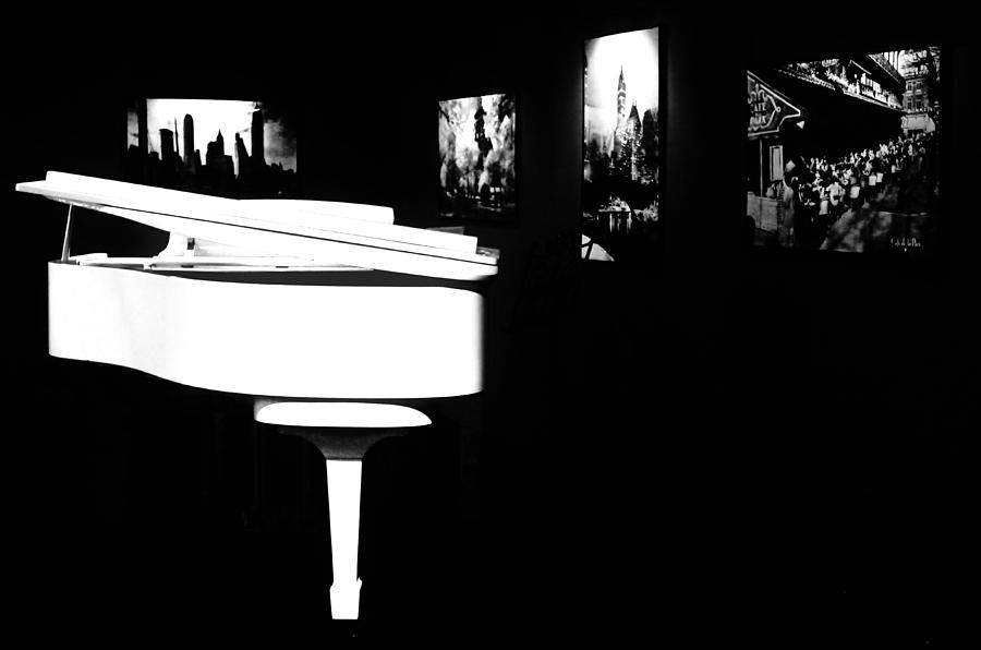 Piano Photograph - White Piano by Benjamin Yeager
