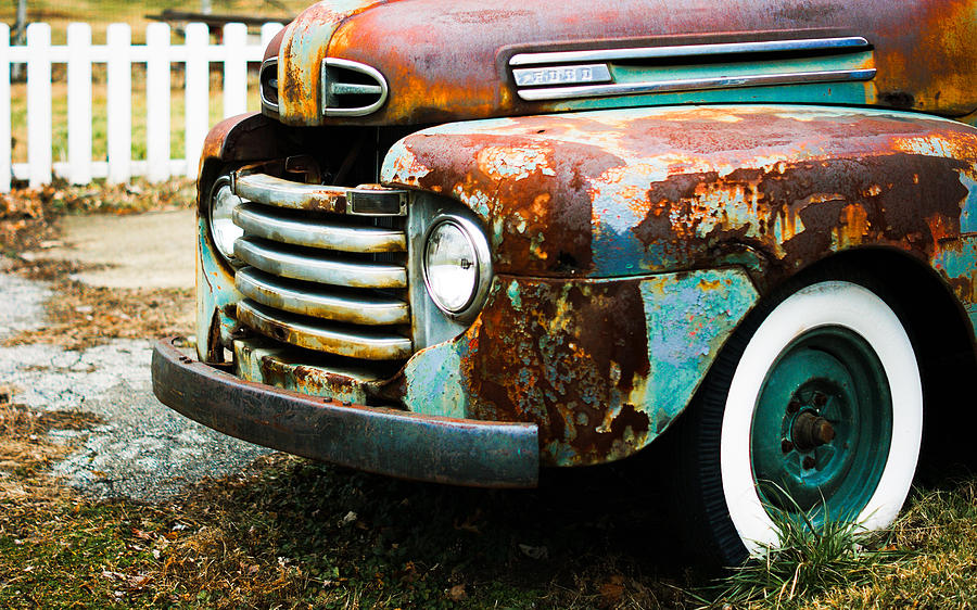Rust Photograph - White Picket Dreams II by Off The Beaten Path Photography - Andrew Alexander