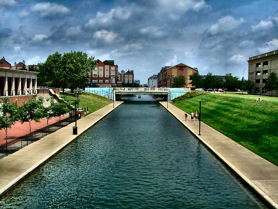 White River Photograph - White River Park Canal In Indy by Julie Dant