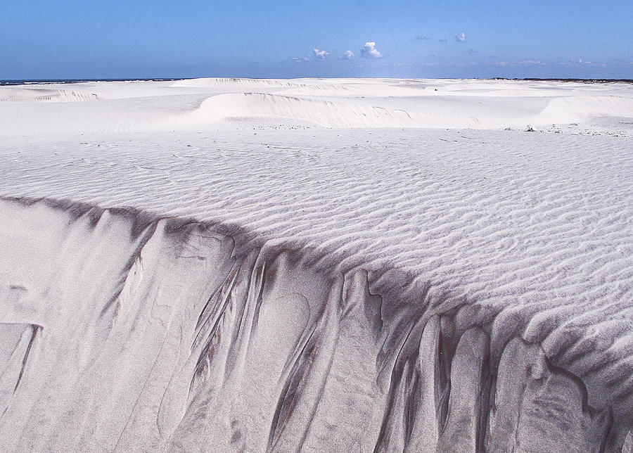 Sand Photograph - White Sand by Frits Selier