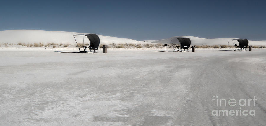 White Sands New Mexico Photograph - White Sands New Mexico Rest Area by Gregory Dyer