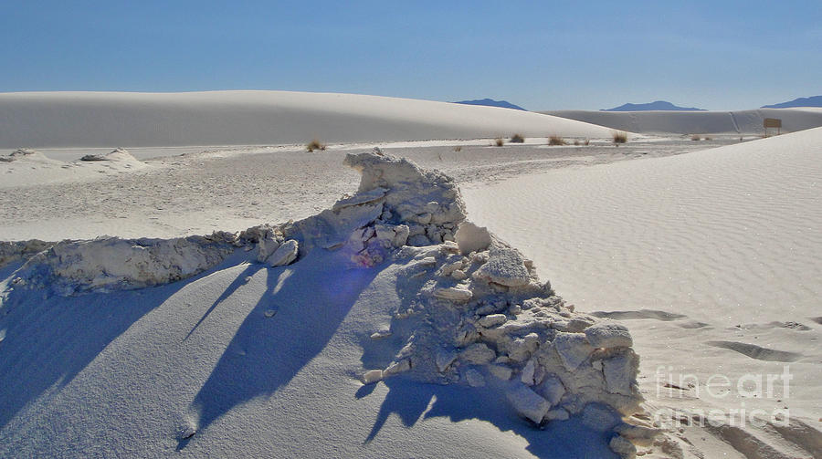 White Sands New Mexico Photograph - White Sands New Mexico Sand Rift by Gregory Dyer