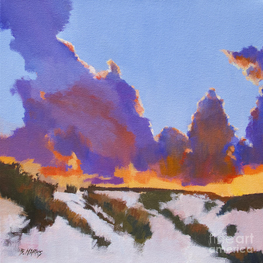 White Sands Painting - White Sands Sunset by Bernard Marks