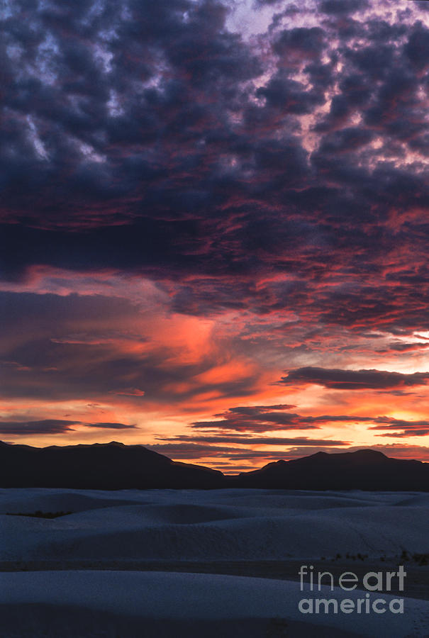White Sands Photograph - White Sands Sunset by Sandra Bronstein