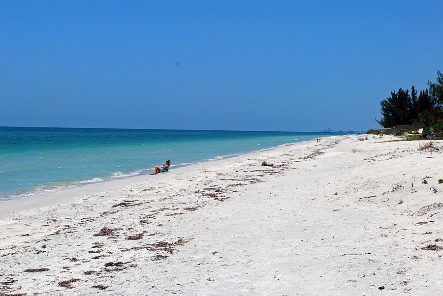 Florida Photograph - White Sandy Beach by Gary Wonning