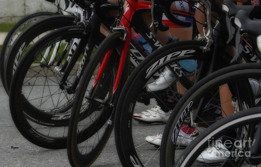 Bicycle Photograph - White Shoes by Steven Digman