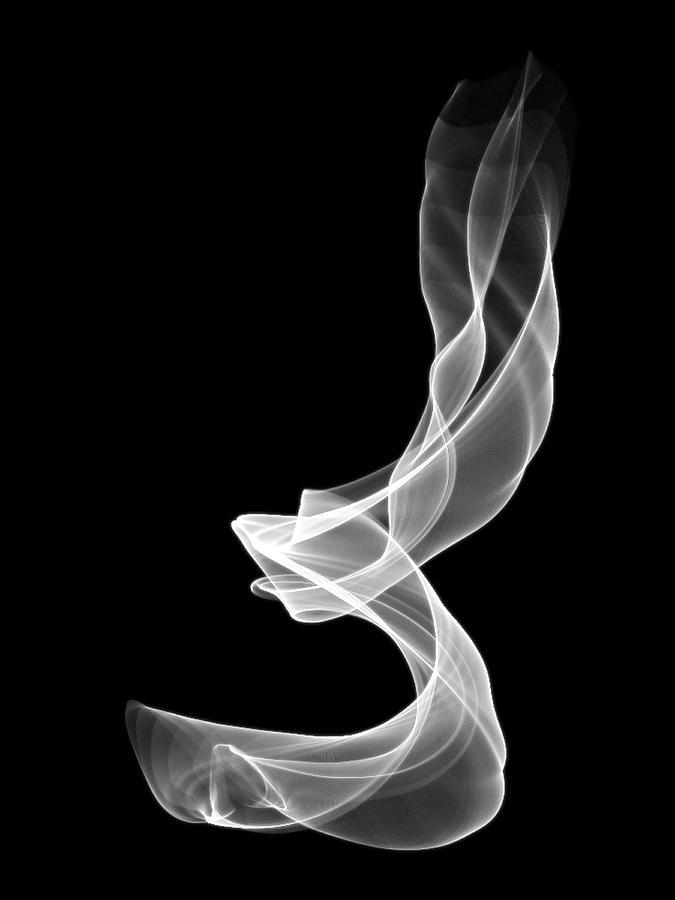 Smoke Digital Art - White Smoke by Matthew Angelo