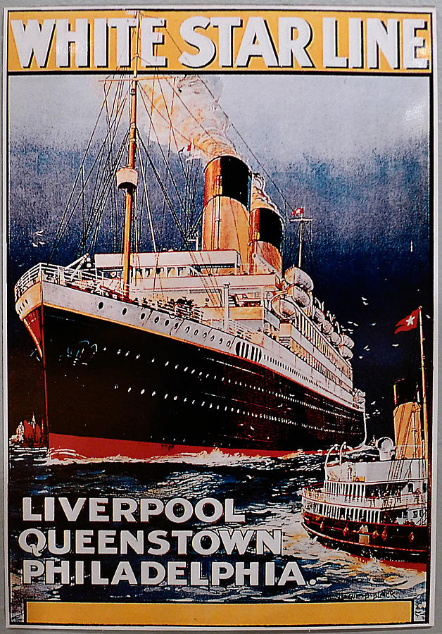 White Star Line Poster 1 Photograph By Richard Reeve