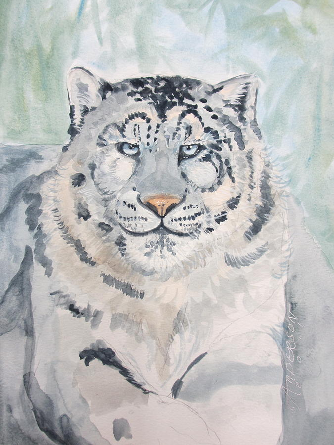 Tiger Painting - White Tiger by Sherri Anderson