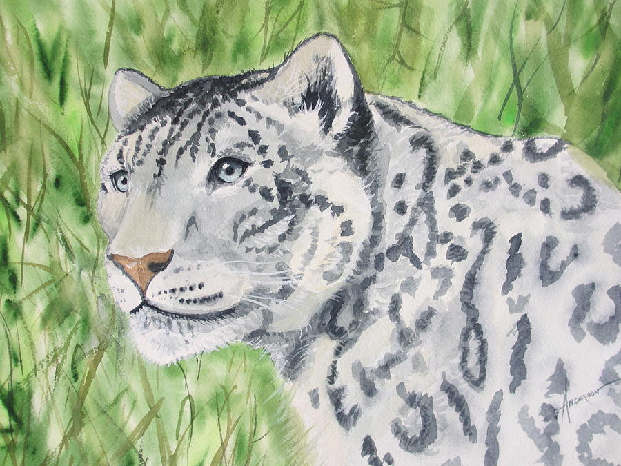Tiger Painting - White Tiger Too by Sherri Anderson